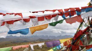 flags hanging tibet